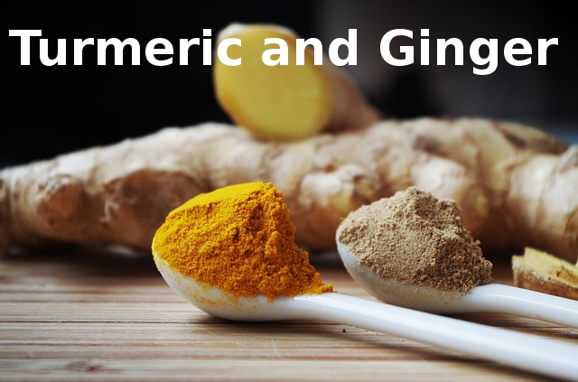 Turmeric and Ginger for blood flow and decrease of inflammation.