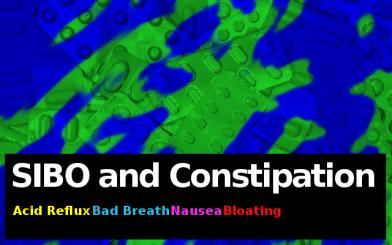 SIBO, constipation, psoriasis, bad breath, nausea
